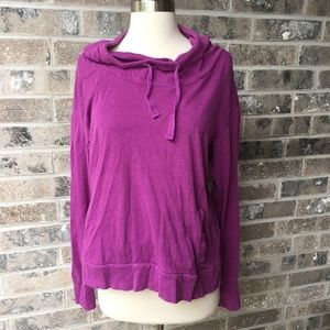 COLUMBIA Hooded Long Sleeve Thermal Top L Purple